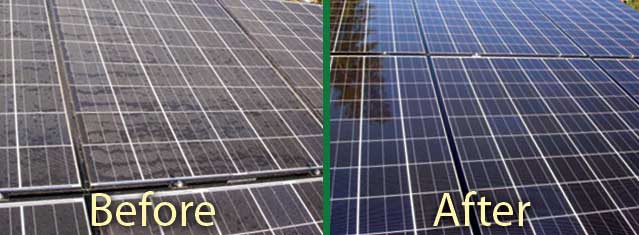 Solar Panel Cleaning Vision Blind Cleaning